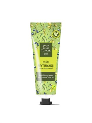 NATURAL OLIVE OIL HAND AND BODY CREAM 50 ML TUBE (30 DIAMETER)